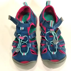 Keen   Girl's Hiking Sandals Turquoise, Navy & Pink 4